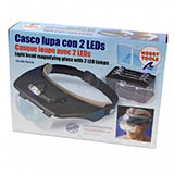 Artesania Latina 270541Hands Free Magnifier Glasses with 2 LED Lights