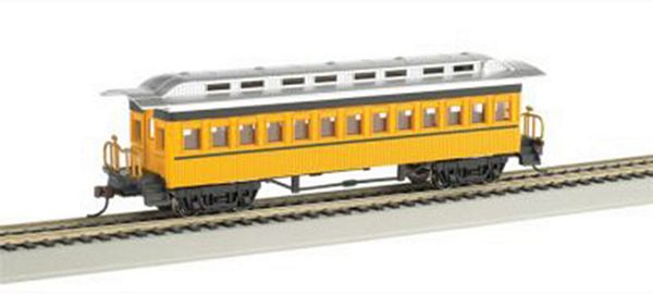 Bachmann 13403 Coach Painted Yellow Unlettered HO