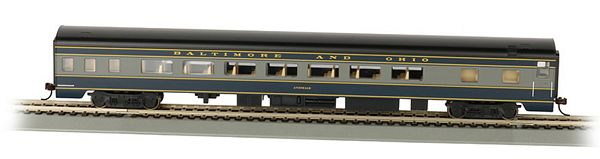 Bachmann 14203 B O Smooth-Side Coach W Lighted Interior HO