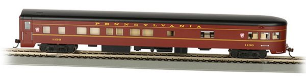 Bachmann 14301 PRR Smooth-side Observation Car With Lighted Interior