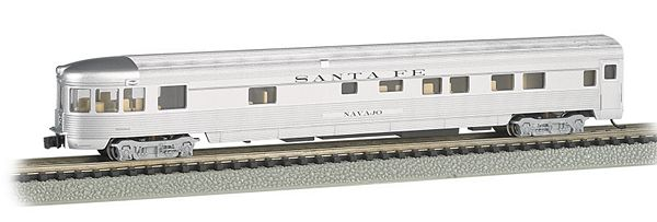 Bachmann 14551 Santa Fe 85 Ft Observation with Lighted Interior
