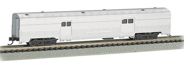 Bachmann 14654 Unlettered Aluminum 72 Ft 2-door Baggage Car