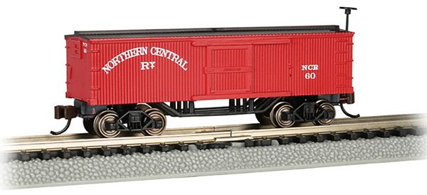Bachmann 15653 Northern Central Old-Time Box Car N Scale