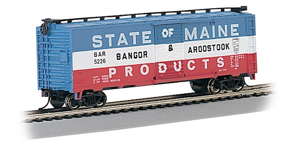 Bachmann 17038 40 Boxcar BAR State of Maine Products 5226 HO