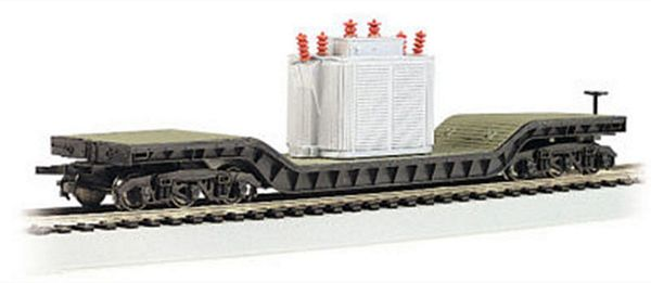Bachmann 18348 52 Flatcar with Transformer HO