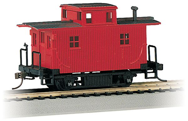Bachmann 18449 Bobber Caboose Unlettered Red
