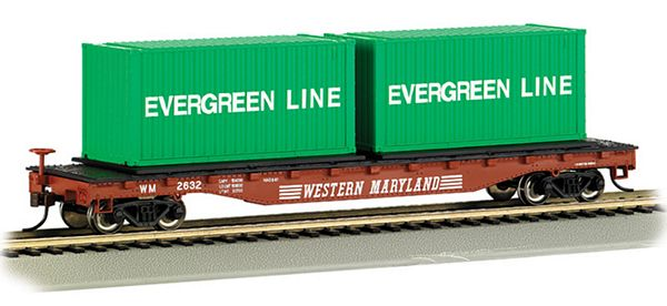 Bachmann 18926 Flatcar with Container Load WM HO