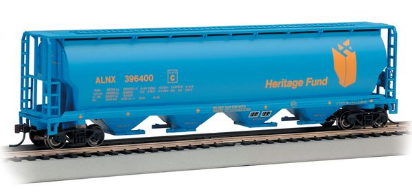 Bachmann 19139 Heritage Fund 4 Bay Cylindrical Grain Hopper