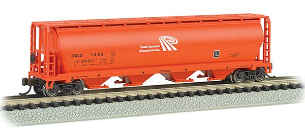 Bachmann 19156 Potash 4 Bay Cylindrical Grain Hopper
