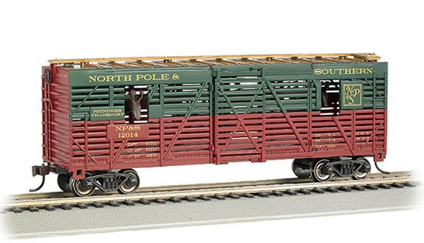 Bachmann 19704 NPS 40ft Animated Stock Car with Horses