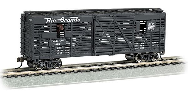 Bachmann 19706 DRGW 40ft Animated Stock Car with Horses