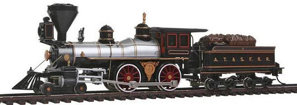 Bachmann 51102 American 4-4-0 with Tender Santa Fe