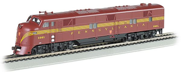 Bachmann 66601 Pennsylvania-Tuscan 5 Stripe E7-A Dcc Sound Value HO Scale