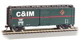 Bachmann 17025 Chicago And Illinois Midland 40 Box Car Ho Scale