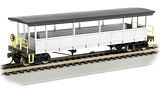 Bachmann 17447 Painted Unlettered-silver-Black Open-sided Excursion Car