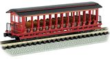 Bachmann 19397 Unlettered Burgundy-Blk Jackson Sharp Open Excursion Car