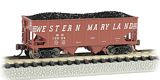 Bachmann 19552 Western Maryland Speed Lettering Usra 55 Ton 2-bay Hopper