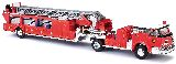 Busch 46031 LaFrance Turntable Ladder Trailer Open Fire Department