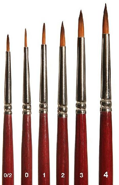 Faller 172110 Brush Set with Brown Tip 6 Pieces Trap