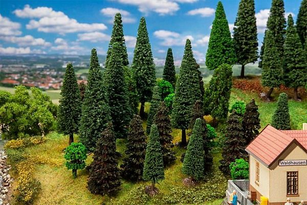 Faller 181530 30 Mixed Forest Trees Sorted