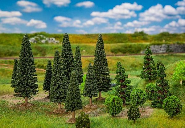 Faller 181540 25 Mixed Forest Trees Small Assorted