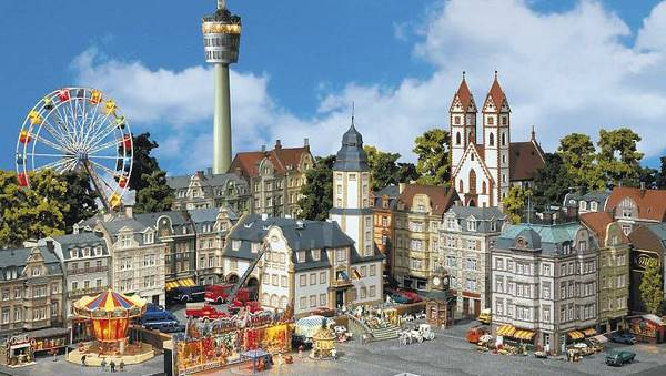 Faller model kits of houses and buildings