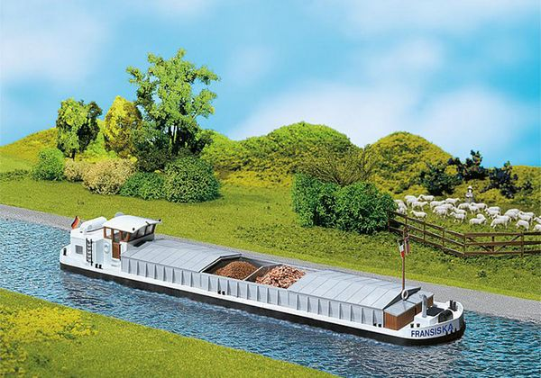 Faller 131006 River Cargo boat with dwelling cabin