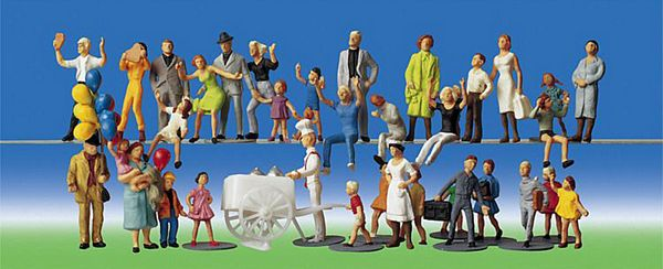 Faller 153006 Fairgoers persons 36 pieces