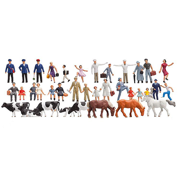 Faller 153007 Beginners Set Figures 36 Pieces