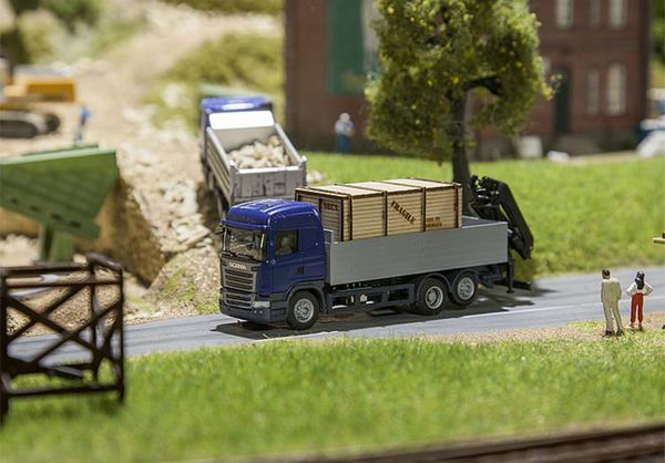 Faller 161597 Lorry Scania R 13 HL Platform with Wooden Crate