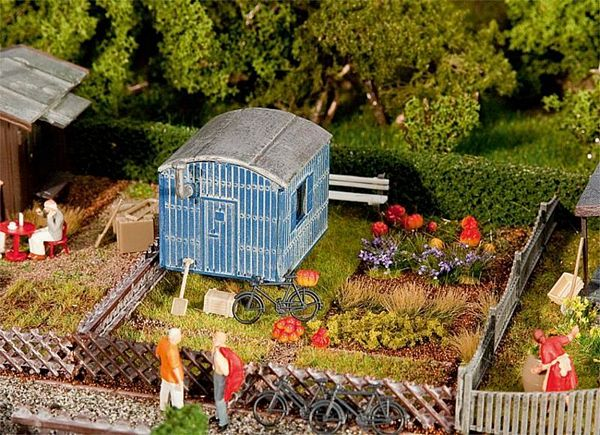 Faller 180490 Allotments with contractors trailer
