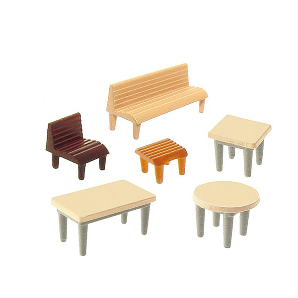 Faller 272440 7 Tables 24 chairs 12 Benches