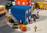 Faller 130134 4 Construction Containers Blue