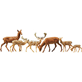 Faller 155509 Fallow Deer Red Deer 12 Pieces