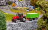 Faller 161588 MF Tractor w Wood Chips Trailer