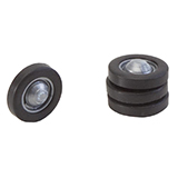 Faller 163106 4 Wheels with Tires and Rims for N Buses