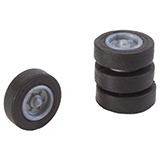 Faller 163107 4 Tires and Rims for N Lorries