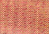 Faller 170608 Wall Card Red Brick PK-10