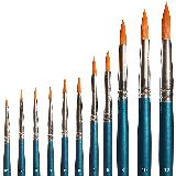 Faller 172151 Flat Synthetic Brush Set PK/6