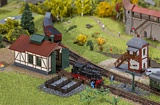 Faller 222108 Branch line Engine Shed w block post Set