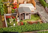 Faller 180492 Allotments with small garden house