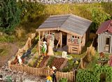 Faller 180493 Allotments with large garden house