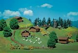 Faller 272531 4 Hay barns with scenic details for the forest
