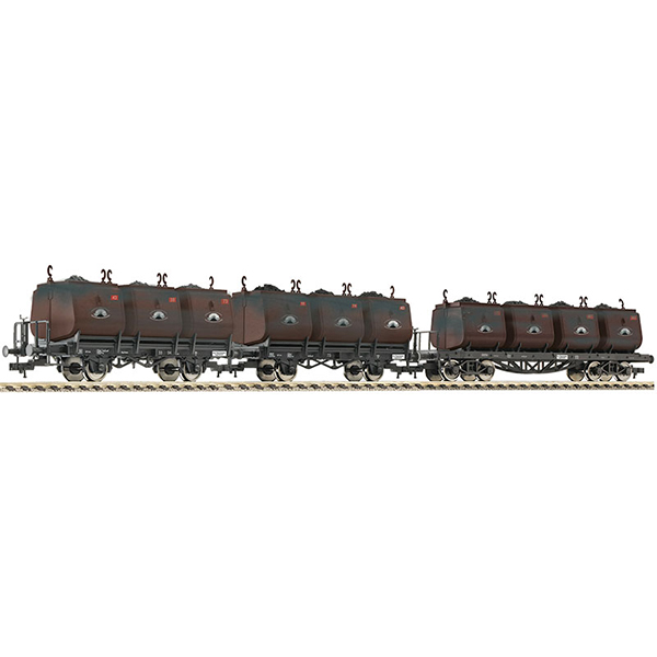 Fleischmann 526506 3 Pc Set Dipping Bucket Wagons for Transportation of Coal Niederschlesisches Steinkohlen-syndikat