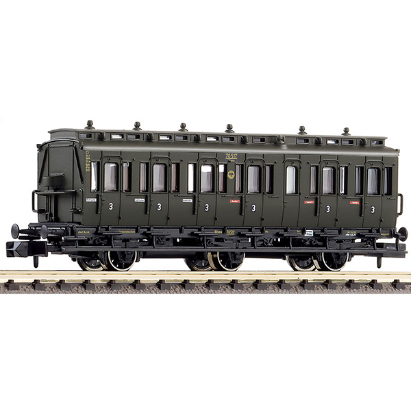 Fleischmann 807006 3rd class compartment coach without brakemans cab type C3 pr 11 DRG