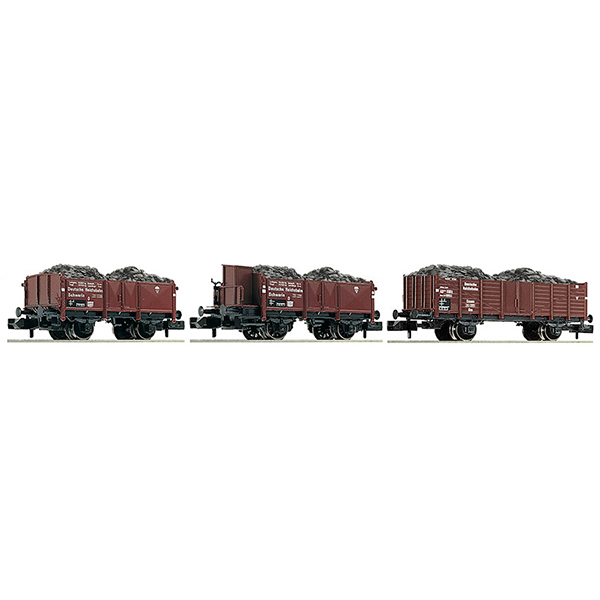 Fleischmann 820802 3 piece set coal train DRB