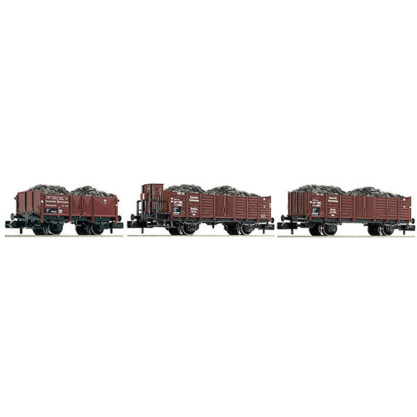 Fleischmann 820803 3 piece set coal train DRB