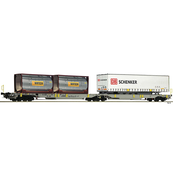 Fleischmann 825004 Articulated double pocket wagon T2000 AAE