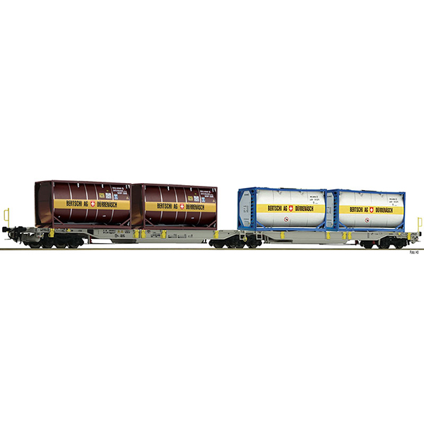 Fleischmann 825007 Articulated double pocket wagon T2000 AAE