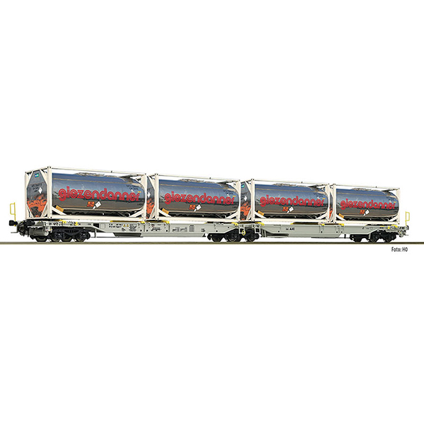 Fleischmann 825009 Articulated double pocket wagon T2000 AAE